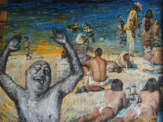 "Rake's Progress Luping in Australia: 4, ""Beach"", Luping (Bruce) Zeng"
