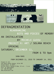 Defragmentation - flyer, Michele Guieu