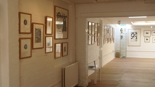 Gallery interior,Society of Wood Engravers