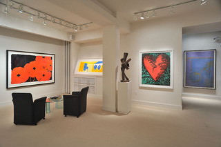 installation at Meyerovich Gallery, Helen Frankenthaler, Robert Motherwell, Jim Dine, Donald Sultan, Guy Dill