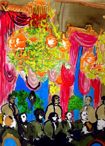 Tallman-banquet_hall_ink_and_liquid_acrylic_on_sanded_paper