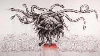 Untitled (Homage to José Clemente Orozco), Enrique Chagoya
