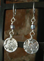 Silver Bee Earrings, Connie Archbold