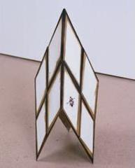 Diamond-shaped Sculpture with Jewels,Alice Konitz
