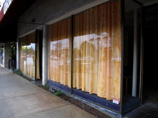 Plywood Curtains at 496/500 S. Lake, Pasadena, CA (installation view), Jennifer Bolande