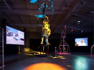 A Voyage of Growth and Discovery (installation view at Farley Bldg., LA, CA,Mike Kelley, Michael Smith