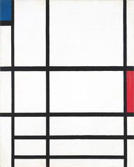 composition en rouge, bleu et blanc II, Piet Mondrian