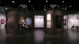 Los Angeles Art Show Booth, Udo Noger, Louise Nevelson, Carole Feuerman, Linda Touby, Ching Ching Cheng