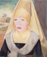 Portrait of an Old Woman after Hans Memling, Micha Patiniott