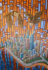 OWLS OVER WINDY CITY, Anastasia Mak