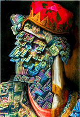 Bismuth Crystal, after Giuseppe Arcimboldo\'s Herod,Chris Ritson