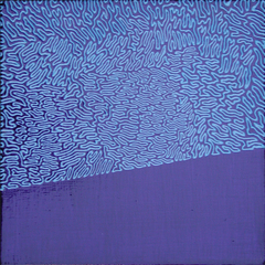 Fluorescent Blue Squiggle on Midnight Blue, William Conroy Lindsay