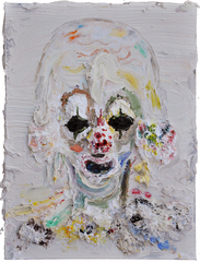 Small Green-Eyed Clown Head, Allison Schulnik
