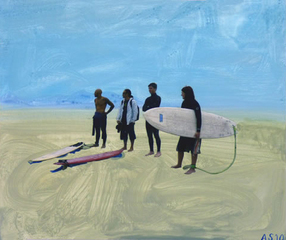 """Surf Gang, Venice Beach"", Annie Seaton"