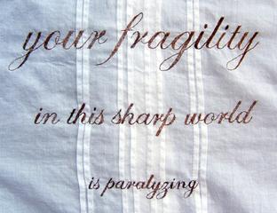 """""""Your Fragility...."""", Kate Kretz"""