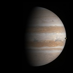Transit of Io, Cassini, January 1, 2001, Michael Benson