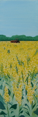 Tractor in Yellow Field,Illona Battaglia Aguayo