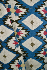 Embroidered colcha bedspread,