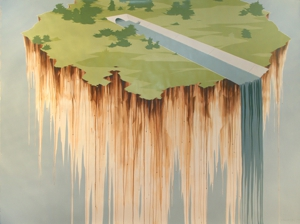Untitled__culvert__waterfall__2007_acrylic_on_paper_80