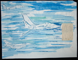 No Title (My Blue Heaven), Raymond Pettibon