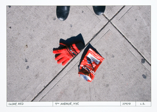 Glove, red, Ninth Avenue,Linda Stillman