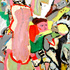 20110126103840-micci_cohan_the_clarion_has_sounded_and_we_re_all_horsing_around_mixed_media_on_wood_12_x_18_inch