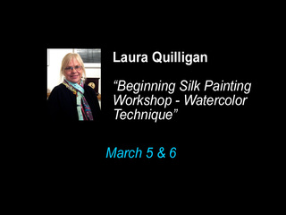 """Beginning Silk Watercolor Technique"", Laura Quilligan"