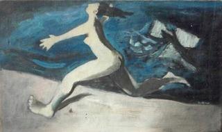 Nude on the beach, Louis Ribak