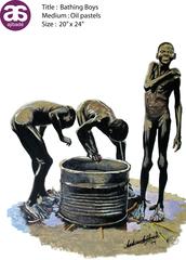 Bathing Boys, Andre Ajibade