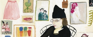 Self-Portrait (with Pete) [detail] , Maira Kalman