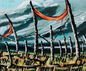 Poles in a Landscape, Richard Florsheim
