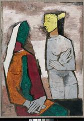 Untitled (Lady with Lamp), Maqbool Fida Husain