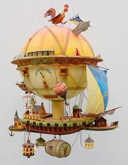 """Modell Luftpostkugel """"Minerva"""", Aus dem Otto-Lilienthal-Museum"""