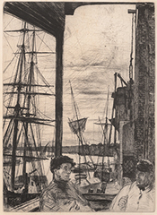 Rotherhithe from A Series of Sixteen Etchings of Scenes on the Thames and Other Subjects (Thames Series),James A.M. Whistler
