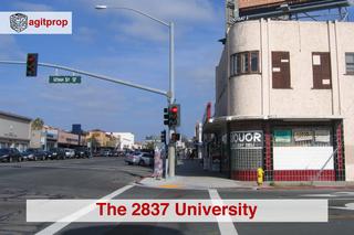 The 2837 University corner,
