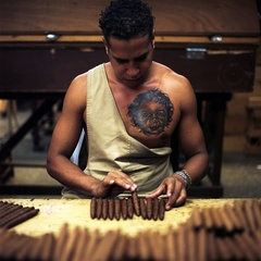 Cigar-Factory Worker with Fresh Daughter Tattoo, Juan Luis Garcia