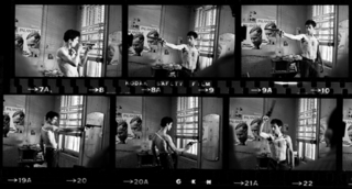 DeNiro Taxi Driver Contact Sheet,Steve Schapiro