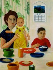 Family Scene 1958, Barbara Maricle