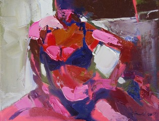 Seated Figure (Hot Pink), Ursula O\'Farrell