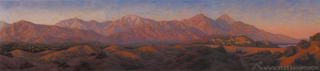 San Gabriels at Sunset (triptych), Star Higgins