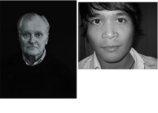 John Ashbery (left),  Paolo Javier (right),