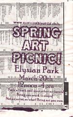 spring art picnic,
