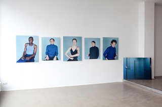 5 portraits and 1 still-life out of the project Becoming Blue,Anouk Kruithof