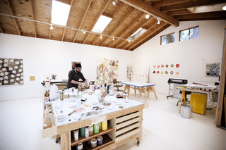 Kevin Appel in his studio, Kevin Appel