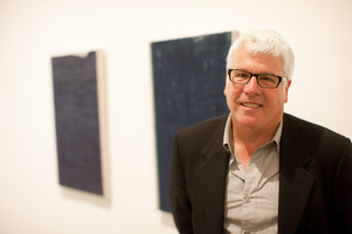 Biennial artist John Zurier within his installation for 2010 California Biennial,John Zurier