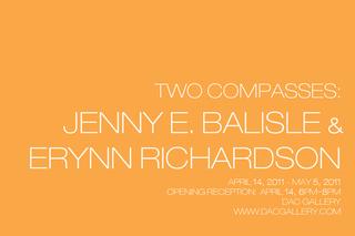Two Compasses Invitation, Jenny E. Balisle, Erynn Richardson