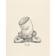 Study of a Soft Fireplug, Inverted,Claes Oldenburg