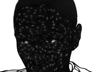Untitled (part of a Polyptych),Toyin Odutola