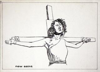 No Title (New Saint), Raymond Pettibon