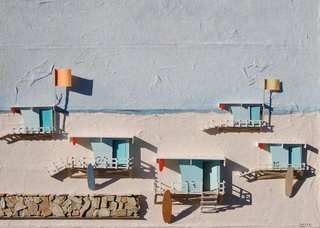 Newport Beach Lifeguard Towers,Christie Grimstad